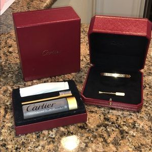 Authentic Cartier ❤️Bracelet w/ screwdriver & soap